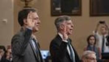 Ukraine-Affäre: Führende Beamte sagen erstmals öffentlich aus