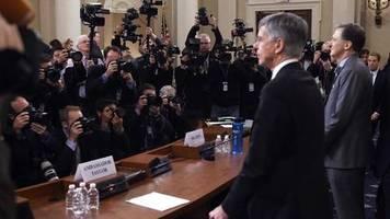 Ukraine-Affäre: Impeachment-Spektakel im TV: Belastende Aussagen und ein neues, brisantes Telefonat