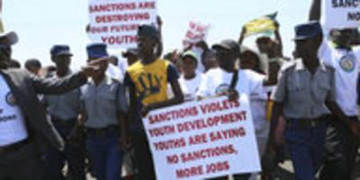 Kampagne gegen Simbabwe-Sanktionen: Leere Worte, leere Bäuche