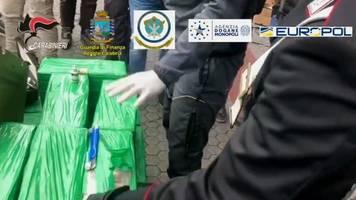 Für deutschen Markt - 250 Millionen Euro wert: Rekord-Kokain-Fund in Italien