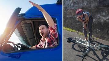 Facebook-Posting geht viral: Lkw-Fahrer schreibt nach Beinahe-Unfall wütenden Brief an Radfahrer: Ihr spielt mit eurem Leben