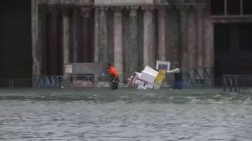 Video: Neue Hochwasserhöchststände in Venedig