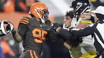 NFL: Skandal: Browns-Profi schlägt Steelers-Quarterback mit Helm
