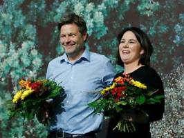 Beide können Kanzler: Die Grünen belohnen ihr Spitzenduo