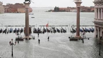 Keine Entspannung: Venedig muss mit neuen Unwettern rechnen