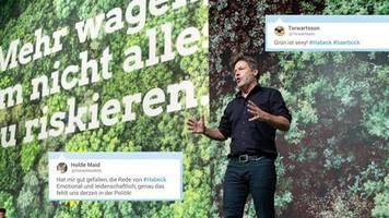 Grünen-Parteitag: Grün ist sexy: Habeck hält flammende Rede – und Twitter feiert ihn für seine Pläne