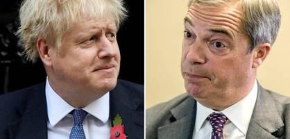 Johnson vergeht das Lachen, Farage schäumt vor Wut