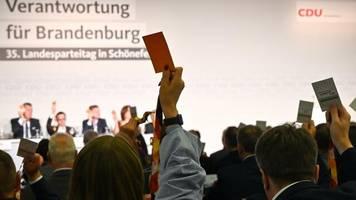 Mitgliederentscheid: Brandenburger CDU stimmt für Koalition mit SPD und Grünen