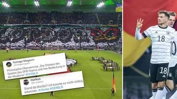 EM-Quali gegen Weißrussland: Stand da Mordor?: Fans zerreißen DFB-Choreo – und weisen auf ein gewaltiges Problem hin