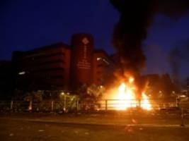 Proteste: Gewalt in Hongkong eskaliert weiter