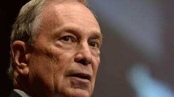 Bloomberg entschuldigt sich für Unterstützung von umstrittenem Polizeivorgehen