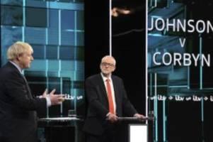 johnson gegen corbyn: schlagabtausch bei erster tv-debatte im britischen wahlkampf
