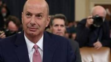 Impeachment-Anhörung: Botschafter Sondland belastet Trump schwer