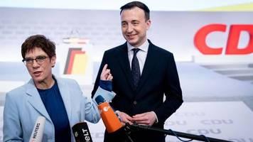 CDU-Parteitag: Kramp-Karrenbauer untermauert ihre Führungsrolle in der CDU
