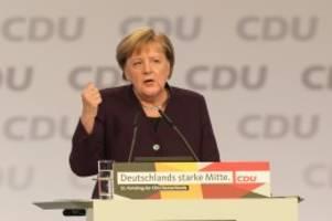 CDU: Merkel auf dem CDU-Parteitag: Zum Abschied friedlich