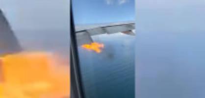 Los Angeles: Triebwerk von Boeing 777 geht in Flammen auf