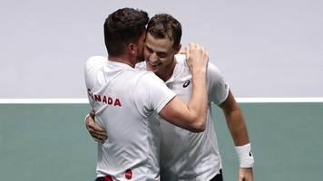 team-wettbewerb in madrid: kanada erster halbfinalist bei davis-cup-endrunde