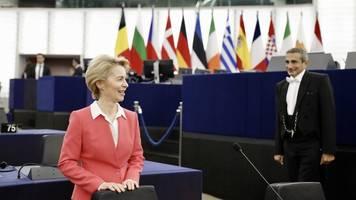 Start am Sonntag: Europaparlament bestätigt von der Leyens neue EU-Kommission