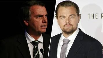 leonardo dicaprio: bolsonaro gibt ihm schuld an amazonas-bränden