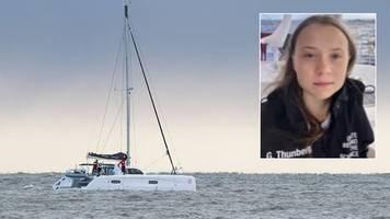 UN-Klimakonferenz: Atlantik-Überquerung: Greta Thunberg grüßt von hoher See
