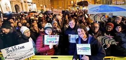 Wie die stillen Sardinen Salvini entwaffnen