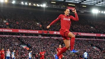 Premier League: Liverpool schlägt Brighton und zieht Man City davon