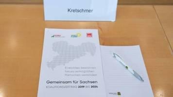 Koalitionsvertrag in Sachsen steht