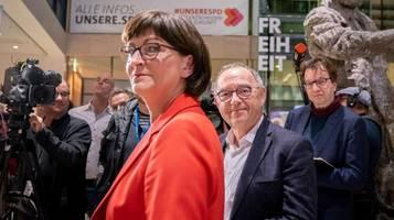 Union zur neuen SPD-Spitze: Hans: Es passt zum Selbstzerstörungsmodus der SPD