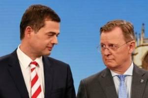 Koalitionsbildung: Thüringen: Rot-Rot-Grün steuert auf Minderheitsregierung zu