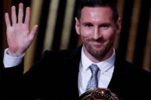Auszeichnung: Weltfußballer Lionel Messi gewinnt auch Ballon d'Or