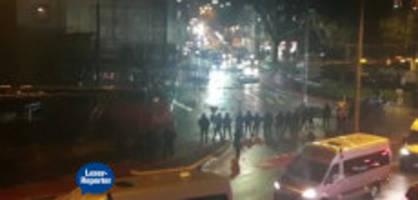 FCL-FCSG: Fans stoppen Zug, Polizei setzt Gummischrot ein