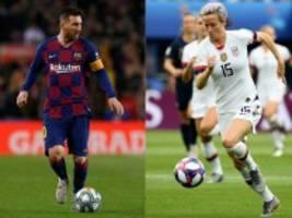 Wahl: Messi und Rapinoe gewinnen den Ballon d'Or