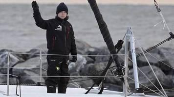 Kurz vor UN-Klimagipfel: Greta Thunberg kommt nach Atlantiküberquerung in Portugal an