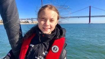 Euphorischer Empfang: Mit Trommeln und Gesang – Lissabon bereitet Greta Thunberg begeisterten Empfang