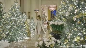 advent bei den trumps: be best: melania trump zeigt weihnachtsdeko im weißen haus