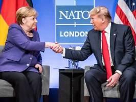 Treffen beim Nato-Gipfel: Merkel und Trump beschwören guten Geist