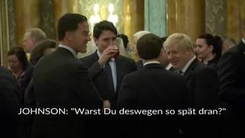 Video: Nach Tratsch-Video: Trump wirft Trudeau Doppelzüngigkeit vor