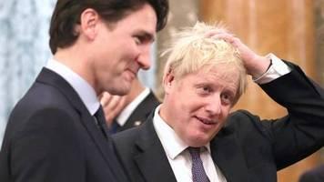 Auf Nato-Gipfel: Nach Lästereien über Trump: So rechtfertigen sich Trudeau und Johnson
