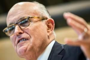 Für TV-Dokumentation: Bericht: Giuliani trifft Schlüsselfiguren der Ukraine-Affäre