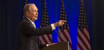 Das ist der amerikanische Präsidentschaftskandidat Michael Bloomberg