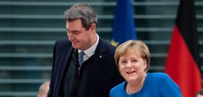 Merkel und Söder äußern sich nach Treffen der Ministerpräsidenten