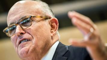 Für TV-Dokumentation - Bericht: Giuliani trifft Schlüsselfiguren der Ukraine-Affäre