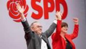 spd-parteitag: mehrheit für neues führungsduo und große koalition