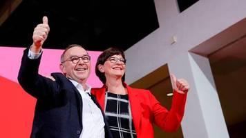 SPD-Parteitag: Walter-Borjans und Esken stellen sich zur Wahl – wird Kühnert Parteivize?