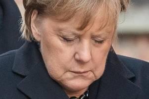 Merkel warnt in Auschwitz vor Antisemitismus und Hassreden