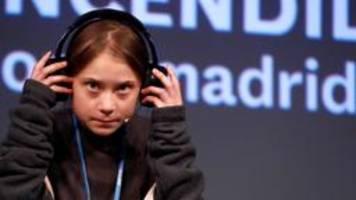 Greta Thunberg fordert Ergebnisse von Weltklimakonferenz