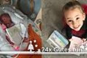 """adventskalender """"24x gutes tun"""" - klara wog bei geburt weniger als drei stück butter - heute macht sie anderen mut"""