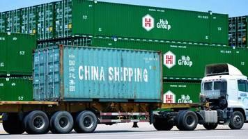 handelskrieg: chinas ausfuhren in die usa brechen drastisch ein