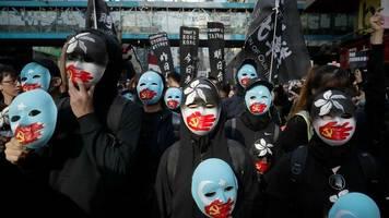sechs monate nach beginn: hongkong erlebt die größten proteste seit wochen