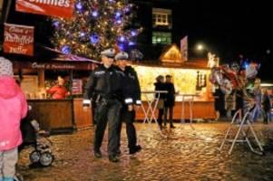 norderstedt: weihnachtsmärkte – polizei wacht, wenn andere feiern